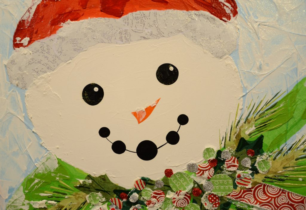 Smiling Snowman painting